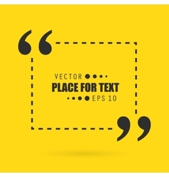 Abstract concept empty speech square quote vector