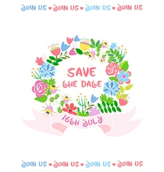 Wedding card save the date vector