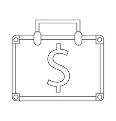 Suitcase bag money business symbol vector