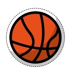 Basketball ball isolated icon vector