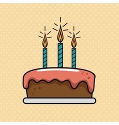 Birthday celebration cake sweet vector