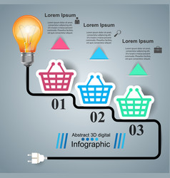 busines infographic bulb light cart icon vector image