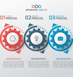 Business infographic template with gears 3 vector