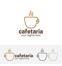 cafeteria logo vector image vector image