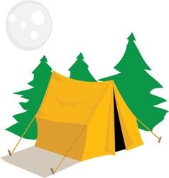 Camp tent vector