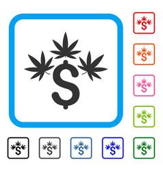 Cannabis business framed icon vector