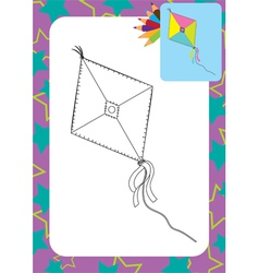 Cartoon kite toy vector image vector image