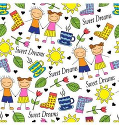 Cartoon seamless pattern vector image vector image