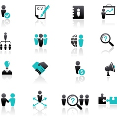 collection of human resources icons vector image vector image