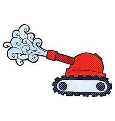 comic cartoon tank vector image