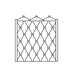 Decorative metal grid fencing design vector