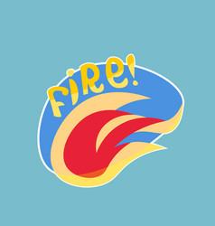 fire sticker social media network message badges vector image vector image