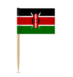 Flag of kenya flag toothpick on white background vector