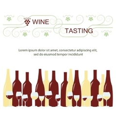 Invitation template for wine testing vector