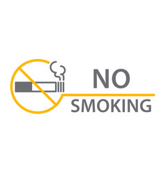label no smoking sticker vector image