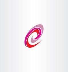 Letter e red magenta spiral logo icon vector