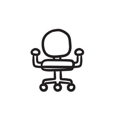 Office chair sketch icon vector