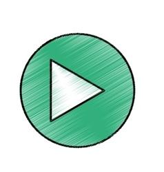 Play button music vector
