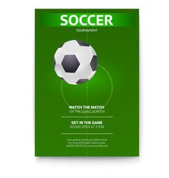 Poster of soccer design of flyer soccer ball on vector