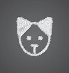 Puppy sketch logo doodle icon vector