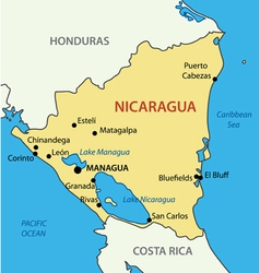 Republic of Nicaragua - map vector image vector image