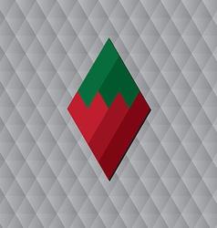 rhombus geometric background vector image