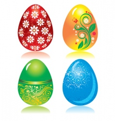 set of ornate Easter eggs vector image vector image