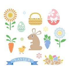 Simple Style Happy Easter Cartoon vector image