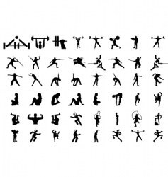 sport people silhouettes vector image vector image