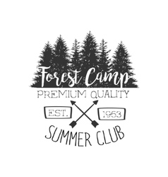 Summer club vintage emblem vector