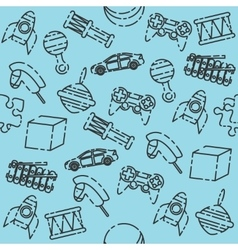 Toys set pattern vector