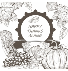 Vintage Thanksgiving Day Card vector image