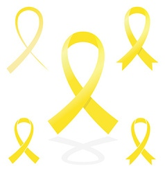 yellow sign ribbon cancer symbol vector image vector image