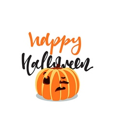 Pumpkin holiday happy halloween isolated vector