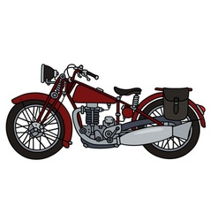 Vintage red motorcycle vector