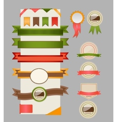 Retro ribbons and labels vector