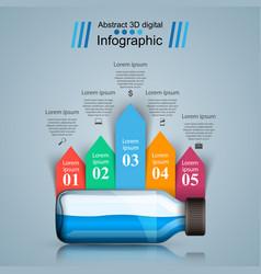 business infographics medicine bottles recip vector image