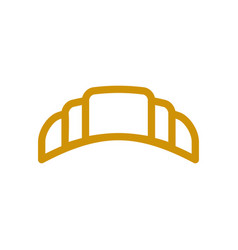 Croissant line icon wheat sign for production of vector