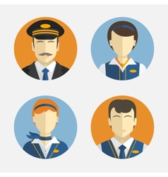 Avatar people flat design icons depicting vector
