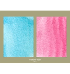 Pink and blue watercolor vector