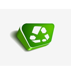 Recycle web icon vector