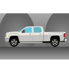 Pick up truck vector