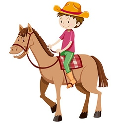 Man riding horse alone vector