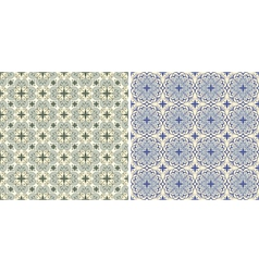 Seamless floral spring patterns vector