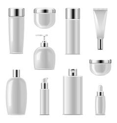 Cosmetic Packaging Icons Set 2 vector image