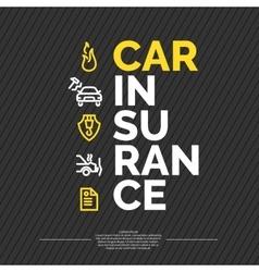 Car insurance poster vector