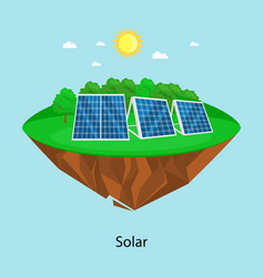 alternative energy power solar electricity panel vector image