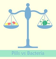 antibiotics vs bacteria libra vector image