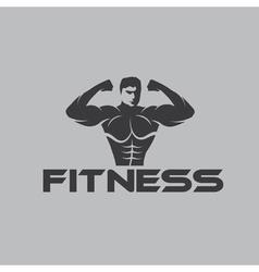 Bodybuilder Fitness Model vector image vector image