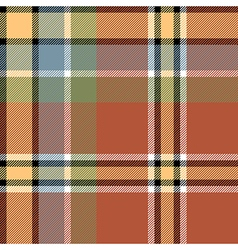 Brown beige check fabric texture seamless pattern vector